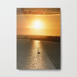 Sail away from the safe harbor Metal Print