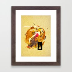 if they push that button Framed Art Print