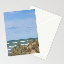 Lake Michigan On Labor Day #lake #Michigan Stationery Cards