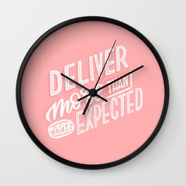 deliver more Wall Clock