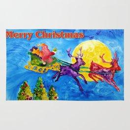 Santa's Night Flight Rug