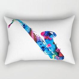 Colorful Saxophone by Sharon Cummings Rectangular Pillow