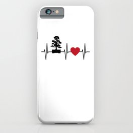 Bonsai Tree Heartbeat Line Japan Culture Gift iPhone Case
