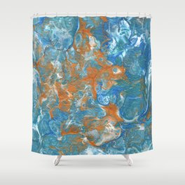 Golden Lacing Shower Curtain