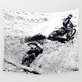 The Chase is On - Motocross Racers Wall Tapestry