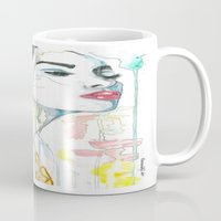watercolour Mugs featuring watercolour by Udya