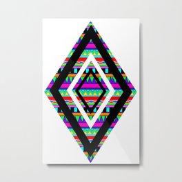 Aztec Diamonds Metal Print
