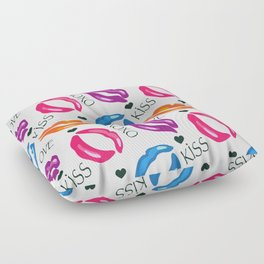 Colorful Lips Floor Pillow