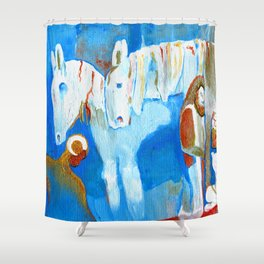 Birth of Baby Epona Shower Curtain