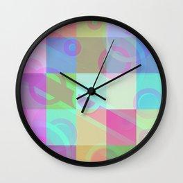 design in pastel tones -7c- Wall Clock