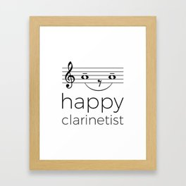 Happy clarinetist (light colors) Framed Art Print
