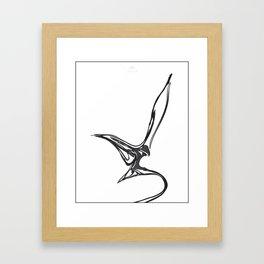 Swallow 1.Black on white background. (ZOOM) Framed Art Print