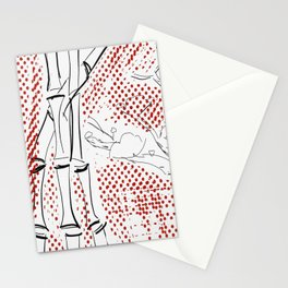 Bamboo Pattern Stationery Cards