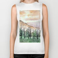 water color Biker Tanks featuring Water Color by Anna Hanse