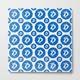 Digibyte (DGB) - Amazing Crypto Fashion Art (Large) Metal Print
