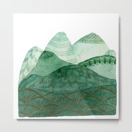 Green Mountain Dreaming Metal Print