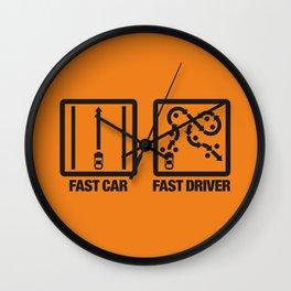 Fast Car - Fast Driver v2 HQvector Wall Clock