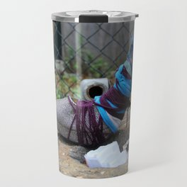 Stiletto Cocoon With Chainlink Fence, No. 2 Travel Mug