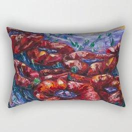 Impressionist Field Poppies by OLena Art Rectangular Pillow