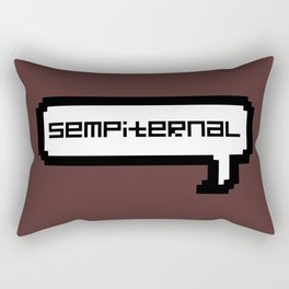 Sempiternal - Maroon Rectangular Pillow