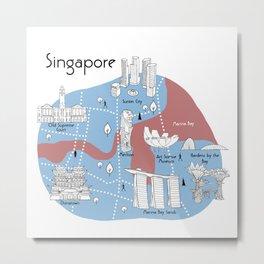 Mapping Singapore - Original Metal Print