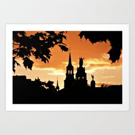 Sunset in Old Montreal Art Print