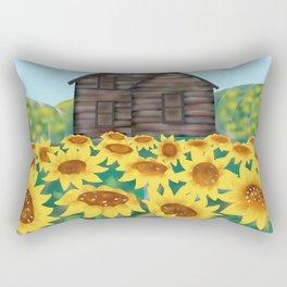 Sunflowers House Rectangular Pillow