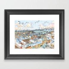 Panoramic of Genoa Framed Art Print