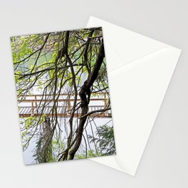 RAINY SPRING DAY AT THE DOCK IN THE WOODS Stationery Cards
