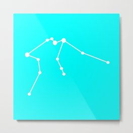 Aquarius (White & Cyan) Metal Print