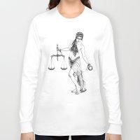libra Long Sleeve T-shirts featuring Libra by PAgata