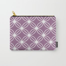 Abstract Circle Dots Purple Carry-All Pouch