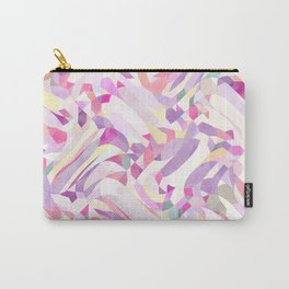 Calypso Pattern in Purple, Pink, Yellow and White Carry-All Pouch