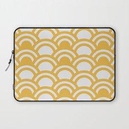 Yellow & White Half Circle Pattern Laptop Sleeve