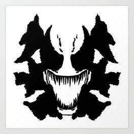 Venom Ink Blot Art Print