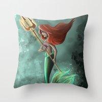 ariel Throw Pillows featuring Ariel by Laia™