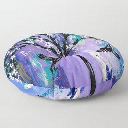 Purple Tree of Life Floor Pillow