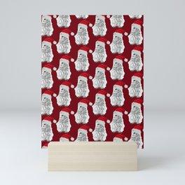 Owl Santas in Red Mini Art Print