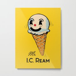 MR. Ice Cream, Mr. I.C. Ream Metal Print