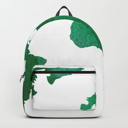 World Map Vibrant Green Earth Backpack