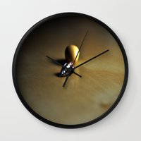 shell Wall Clocks featuring shell by  Agostino Lo Coco