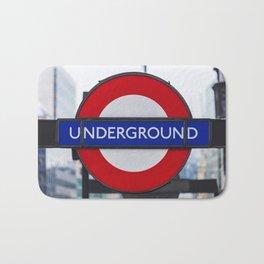 London Underground Sign Bath Mat