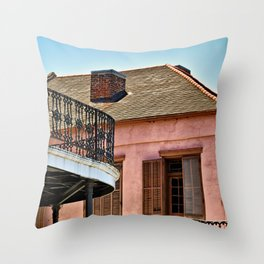 Open Shutters in the French Quarter Throw Pillow