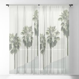 Palm Trees 4 Sheer Curtain