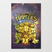 teenage mutant ninja turtles Canvas Prints featuring Teenage Mutant Ninja Turtles by Nerdy Girl Swag