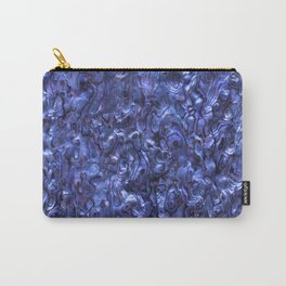 Abalone Shell | Paua Shell | Sea Shells | Patterns in Nature | Dark Blue Tint | Carry-All Pouch