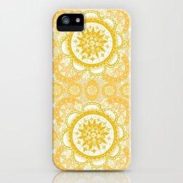 Orange Kaleidoscope Patterned Mandala iPhone Case