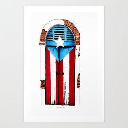 Puerta Bandera Art Print