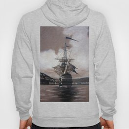 Ship in Sepia Hoody