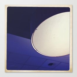 blue light disco Canvas Print